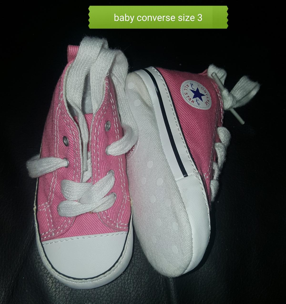 Baby White Converse Pram Shoes Baby Converse Size 3 Pram Shoes