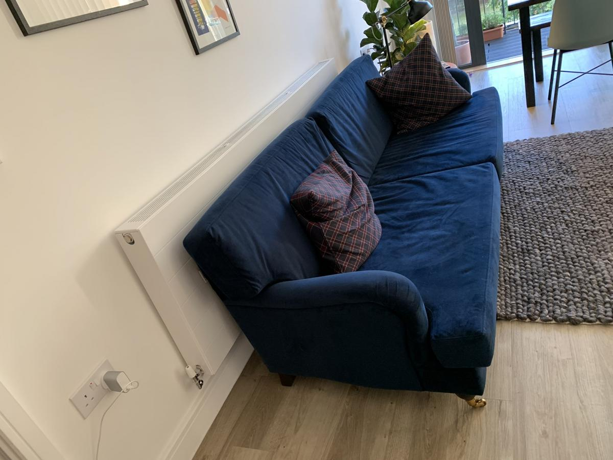 3 Seater Sofa Lombok Amberley Velvet Indigo In Se5 London For 485 00 For Sale Shpock