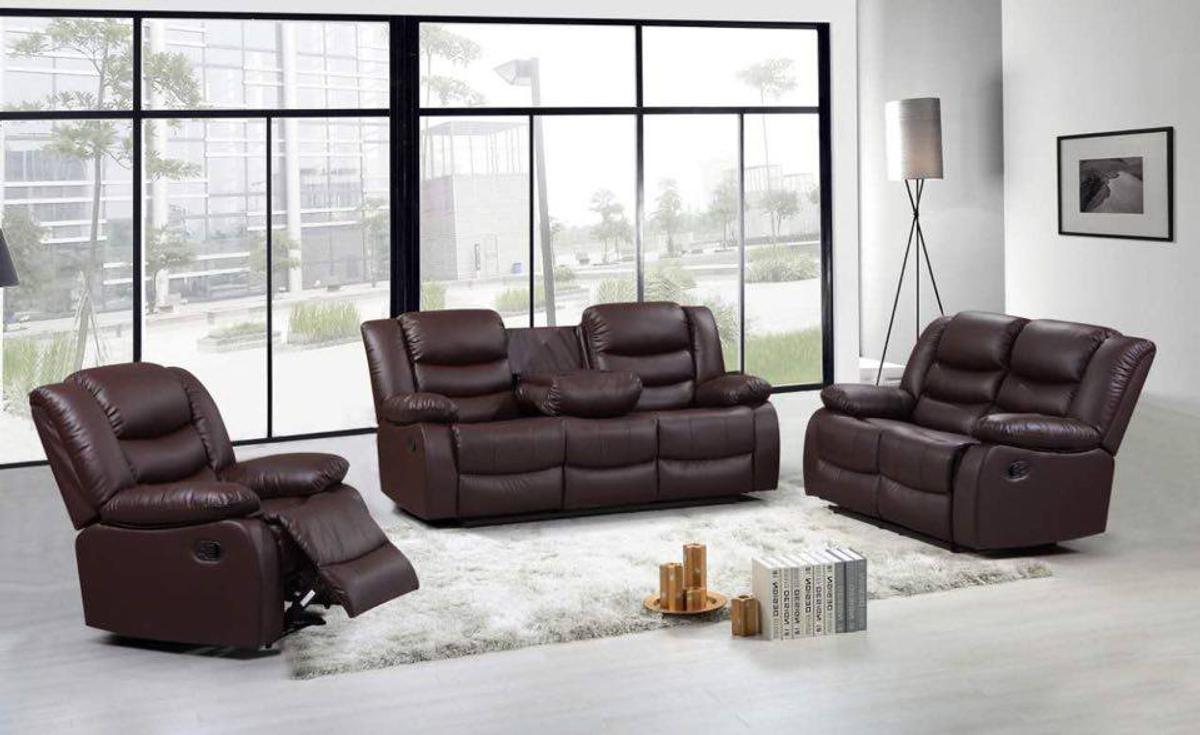 Brand New Leather Recliner Sofa Set 3 2 1 In E17 Forest For 749 00 For Sale Shpock