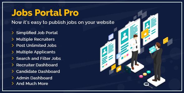 Jobs Portal Pro Plugin For WordPress Users Website