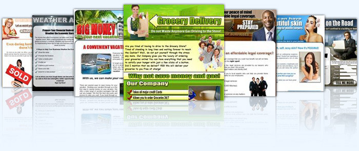 Landing Page Templates and Web Marketing Templates