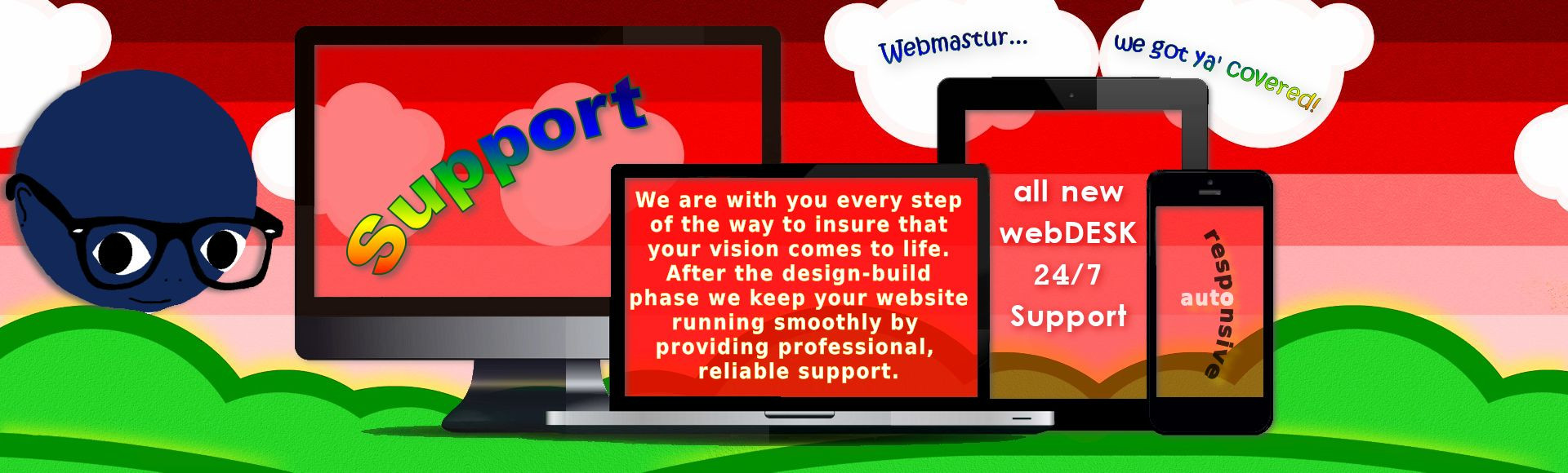 webmastur slides 3 support
