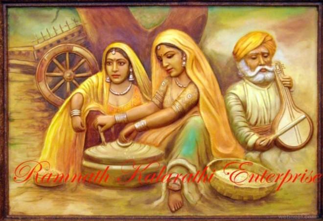 Kamal Raja Hd Wallpaper 45 Beautiful Rajasthani Paintings Traditional Indian
