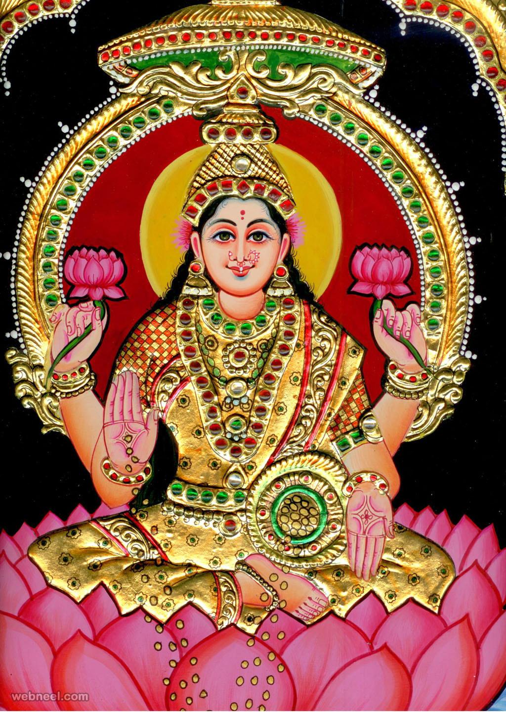 Rajput Wallpaper Hd Download Lakshmi Tanjore Painting 10