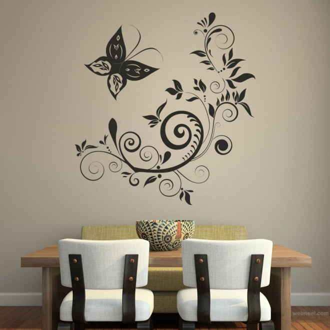 30 Beautiful Wall Art Ideas and DIY Wall Paintings for your - wall designs for bedroom