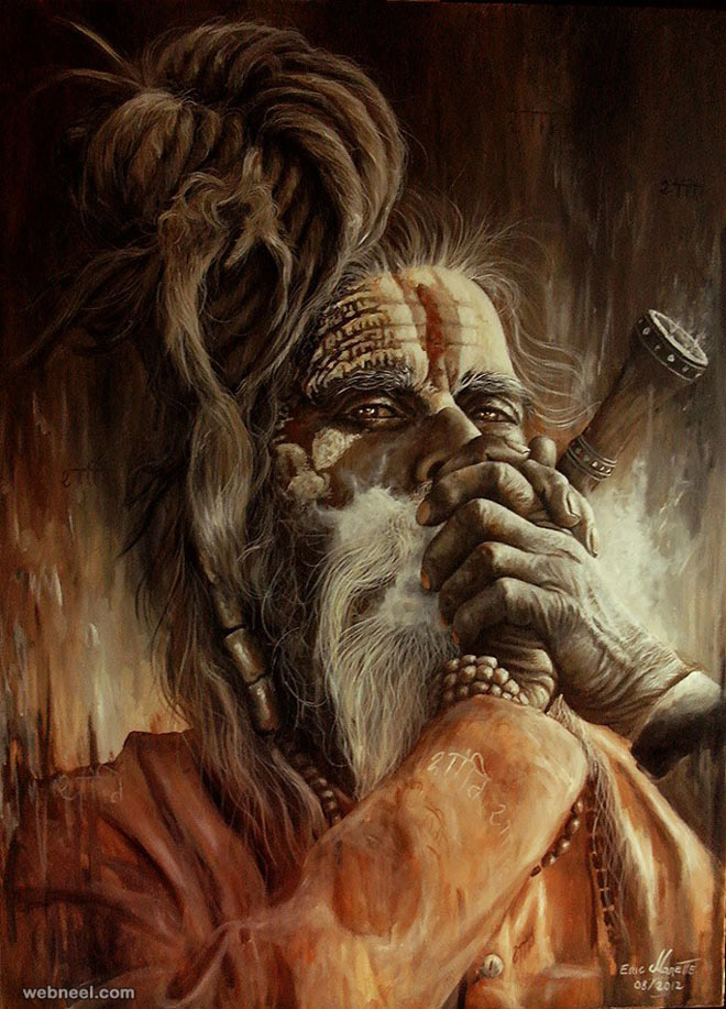 Hanuman Animated Wallpaper 21 Colourful And Hyper Realistic Acrylic Paintings By Eric