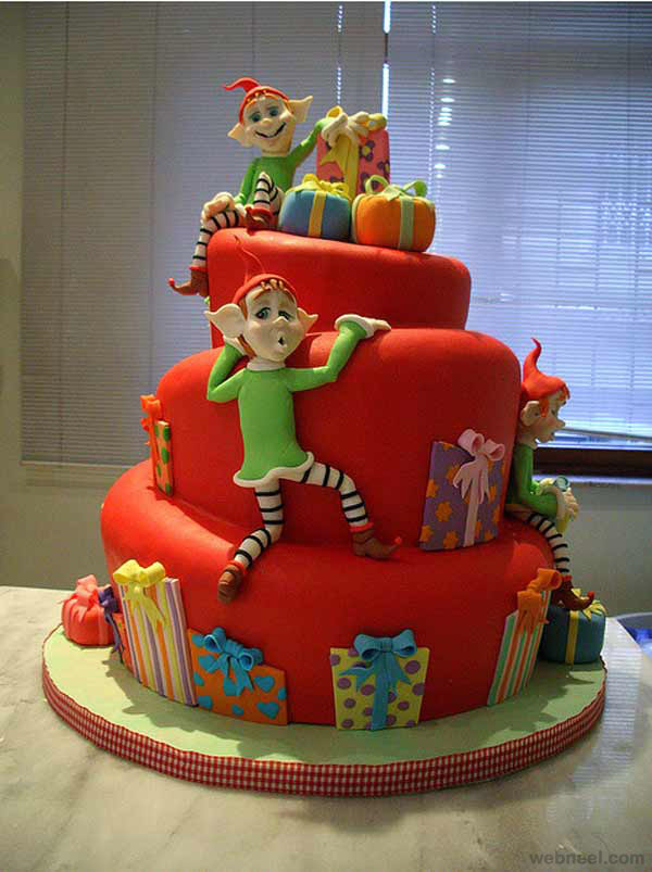 Tooth Cute Wallpaper 25 Beautiful Christmas Cake Decoration Ideas And Design
