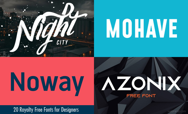 20 Royalty Free Fonts for Designers - Download Modern  Professional