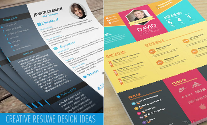 25 Creative Resume Design Ideas and samples for your inspiration