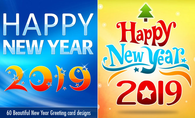 60 Beautiful New Year Greetings Card designs for your inspiration