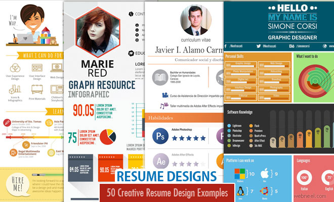 50 Creative Resume Design Samples that will make you rethink your CV - resume design