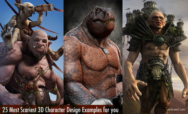 Marvel Super Heroes 3d Wallpaper 25 Most Scariest 3d Monster Character Design Examples For