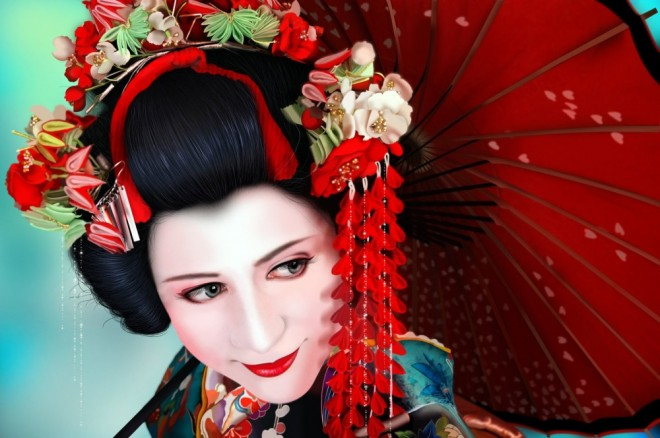 Japanese Geisha Doll 3d Live Wallpaper 25 Beautiful Digital Paintings And Art Works By Alice Newberry