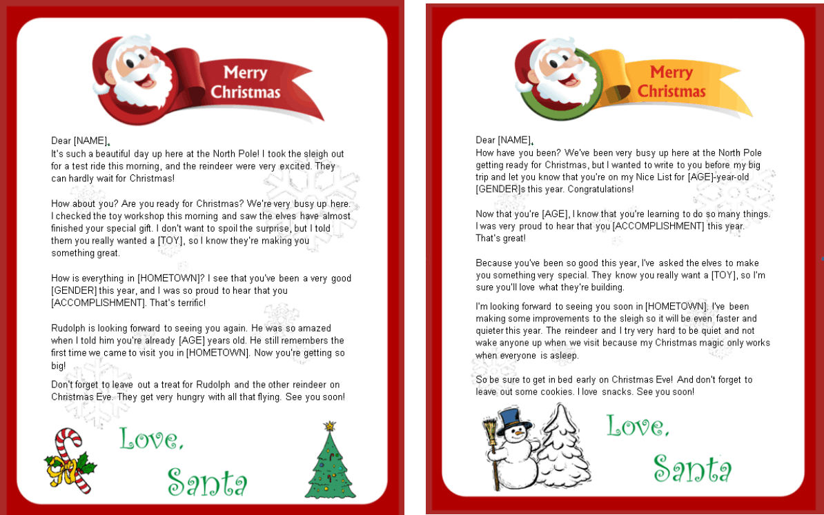 Santa Claus Letter Template Costumepartyrun