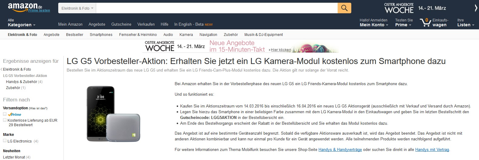 Amazon Konto Free Lg Cam Plus With Lg G5 Pre Orders In Germany At Amazon De Weboo