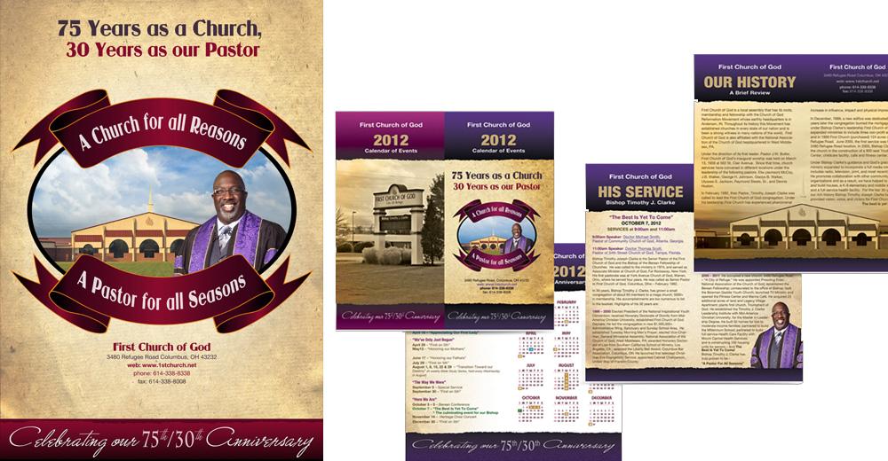 Webphotographix Corporate Identity and Event Branding - church program