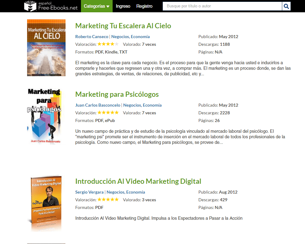 Libros Digitales Free 7 Webs Para Descargar Ebooks Gratis De Marketing Online Websa100