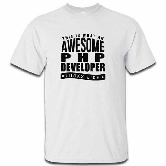 This Is What An Awesome Php Developer Looks Like Mens Tshirt