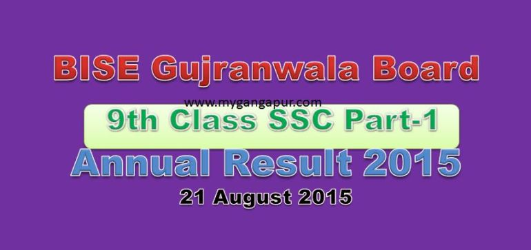 Gujranwala Board Result 2015