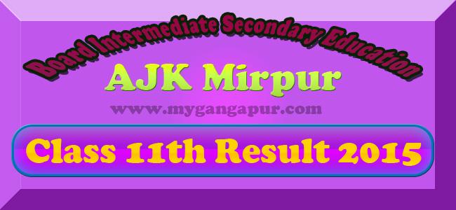 AJK BISE Mirpur Board Inter FA FSc Result 2015 announced