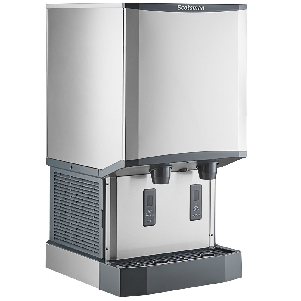 Scratch And Dent Scotsman Hid540w 1 Meridian Countertop Water Cooled Ice Machine And Water Dispenser 40 Lb Bin Storage