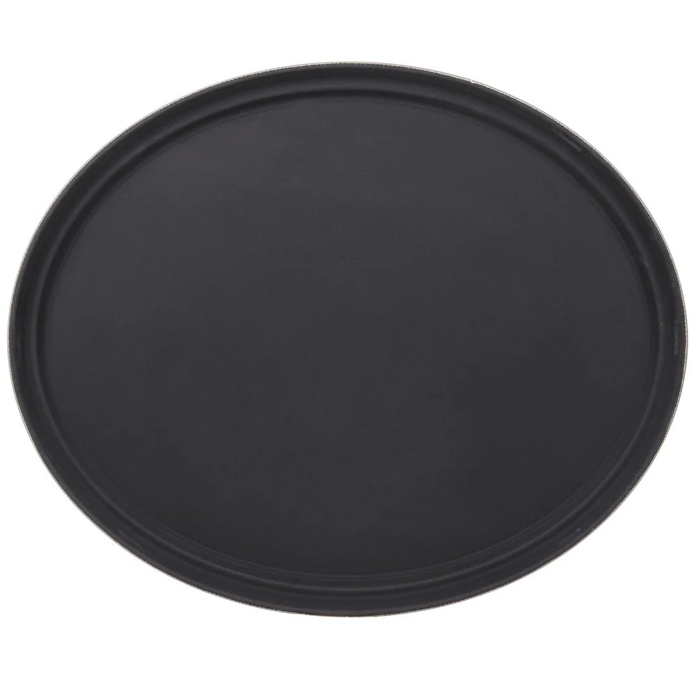 Black Serving Tray Oval 27