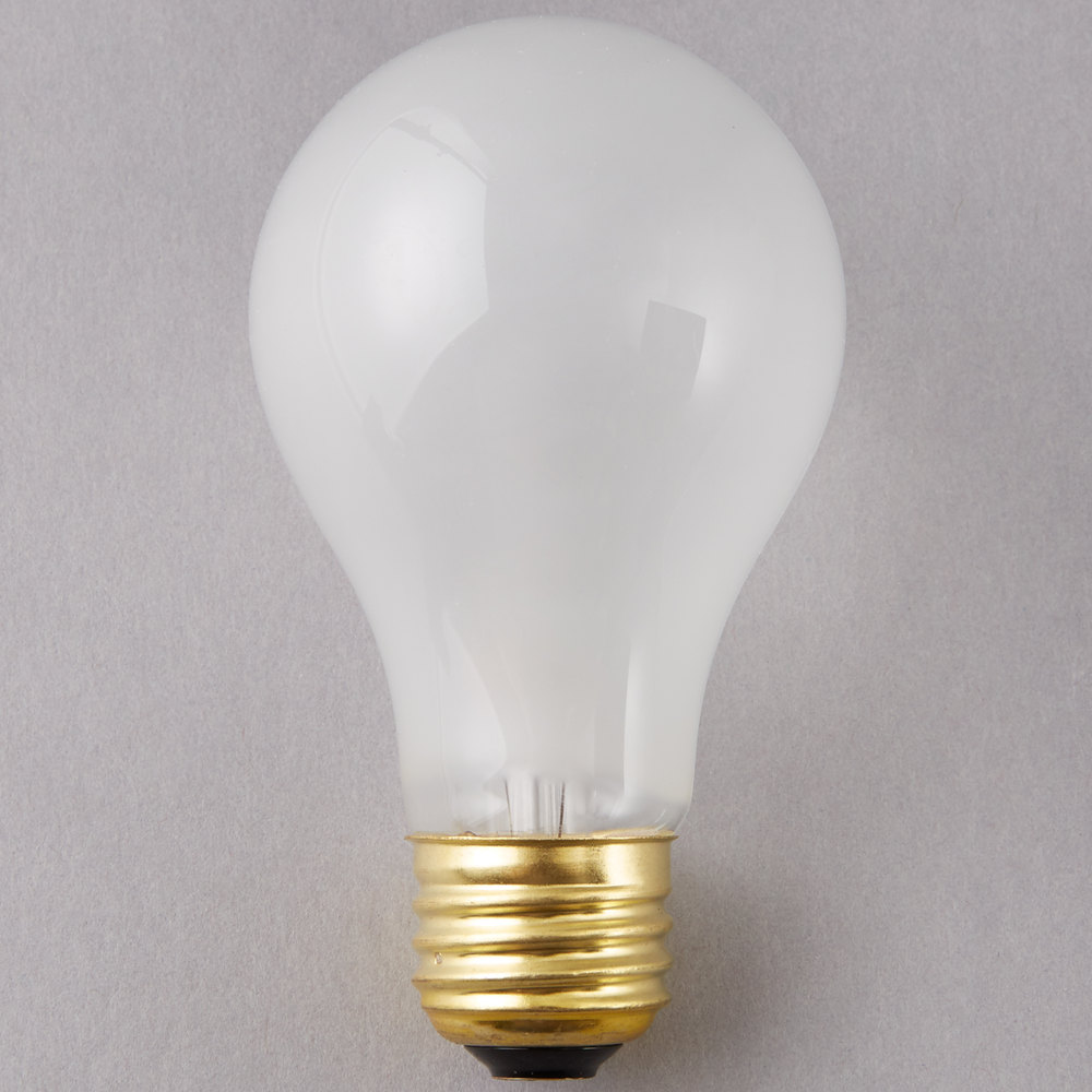 60w Light Bulb Satco S8522 Supreme 60 Watt Frosted Finish Incandescent Rough Service Light Bulb 4 Pack