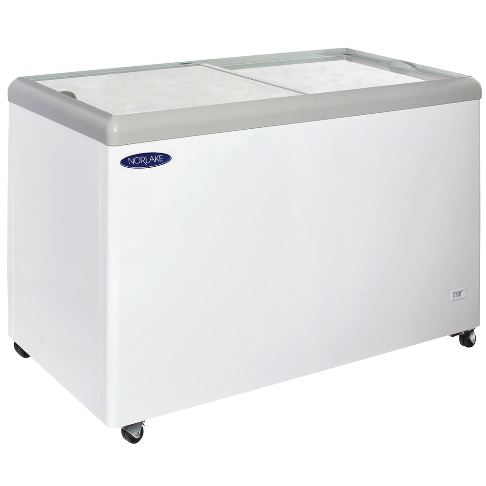 14 Cu Ft Refrigerator Nor Lake Ftb52 12 Flat Lid Display Freezer 14 Cu Ft