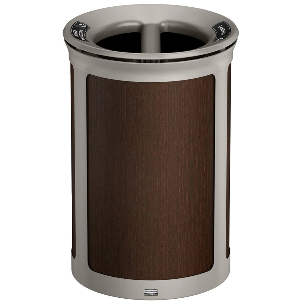 Copper Trash Can With Lid Rubbermaid 1970174 Enhance 23 Gallon Mocha Round Trash Can With Two Stream Lid And Pearl Mouse Gray Frame
