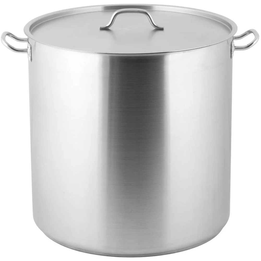 Big W Stock Pot Vigor 100 Qt Heavy Duty Stainless Steel Aluminum Clad Stock Pot With Cover