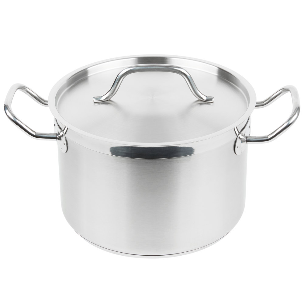 Big W Stock Pot Vigor 8 Qt Heavy Duty Stainless Steel Aluminum Clad Stock Pot With Cover
