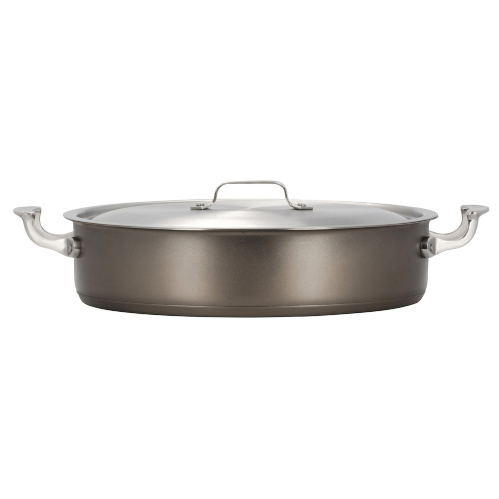 Cucina Wok Bon Chef 60030taupe Cucina 6 Qt Taupe Stainless Steel Induction Brazier Pot With Lid