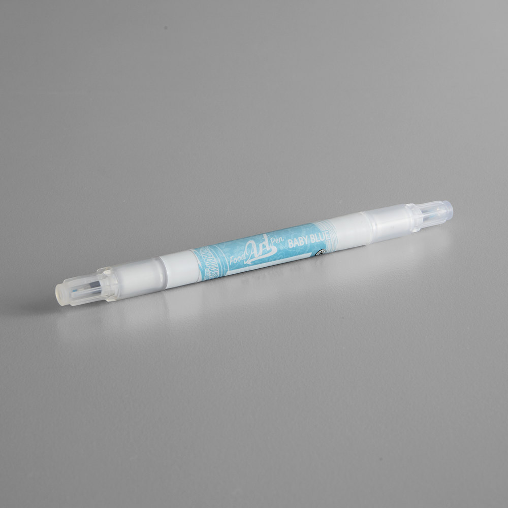 Baby Blue Pen Renshaw Rainbow Dust Double Ended Baby Blue Food Art Pen