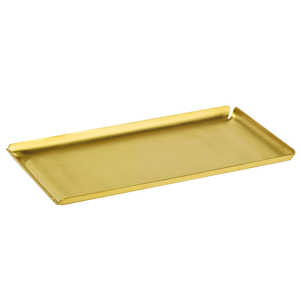 Gold Serving Tray Cairo Collection Gold Stainless Steel Amenity Tray