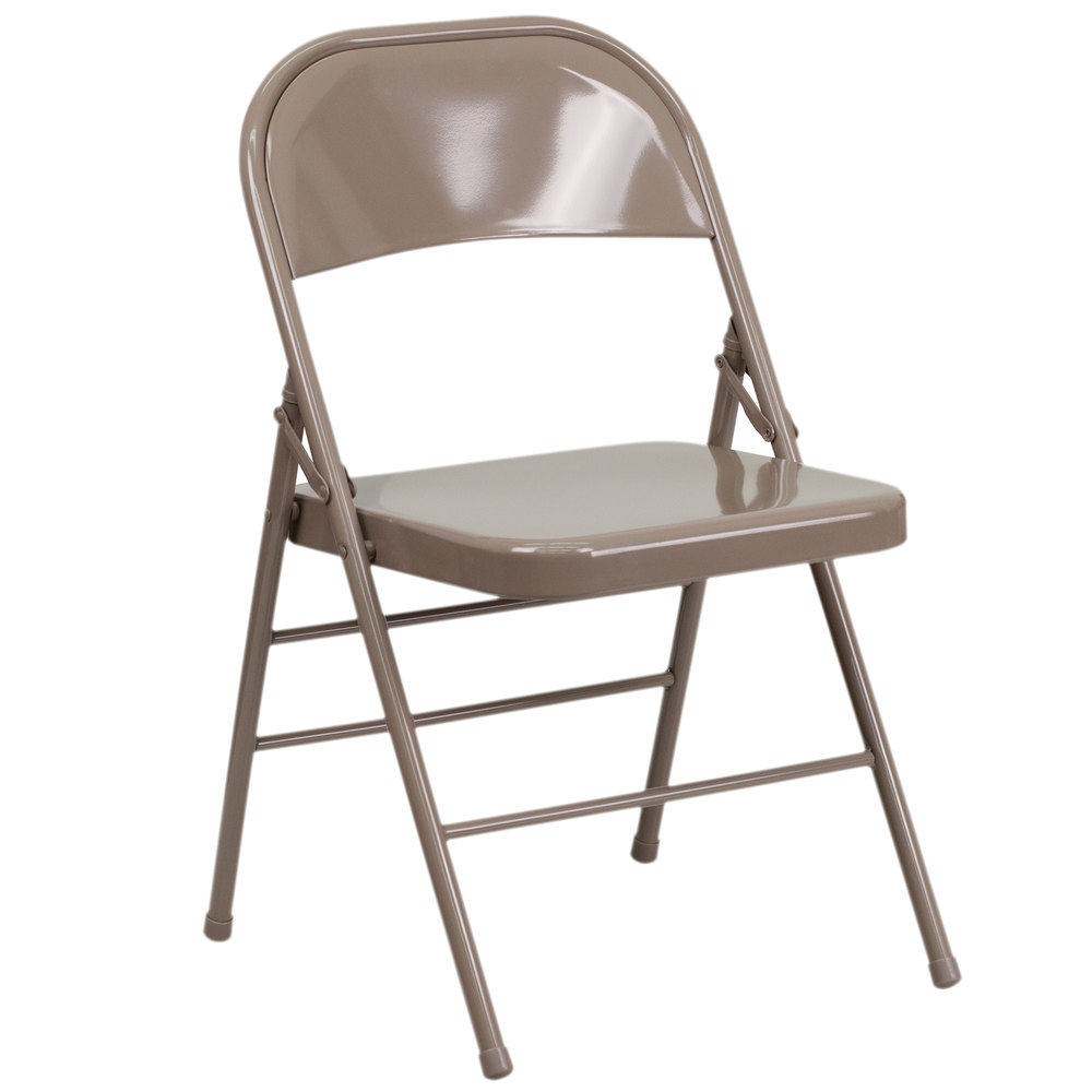 Chairs Folding Flash Furniture 2 Hf3 Mc 309as Bge Gg Beige Metal Folding Chair 2 Pack