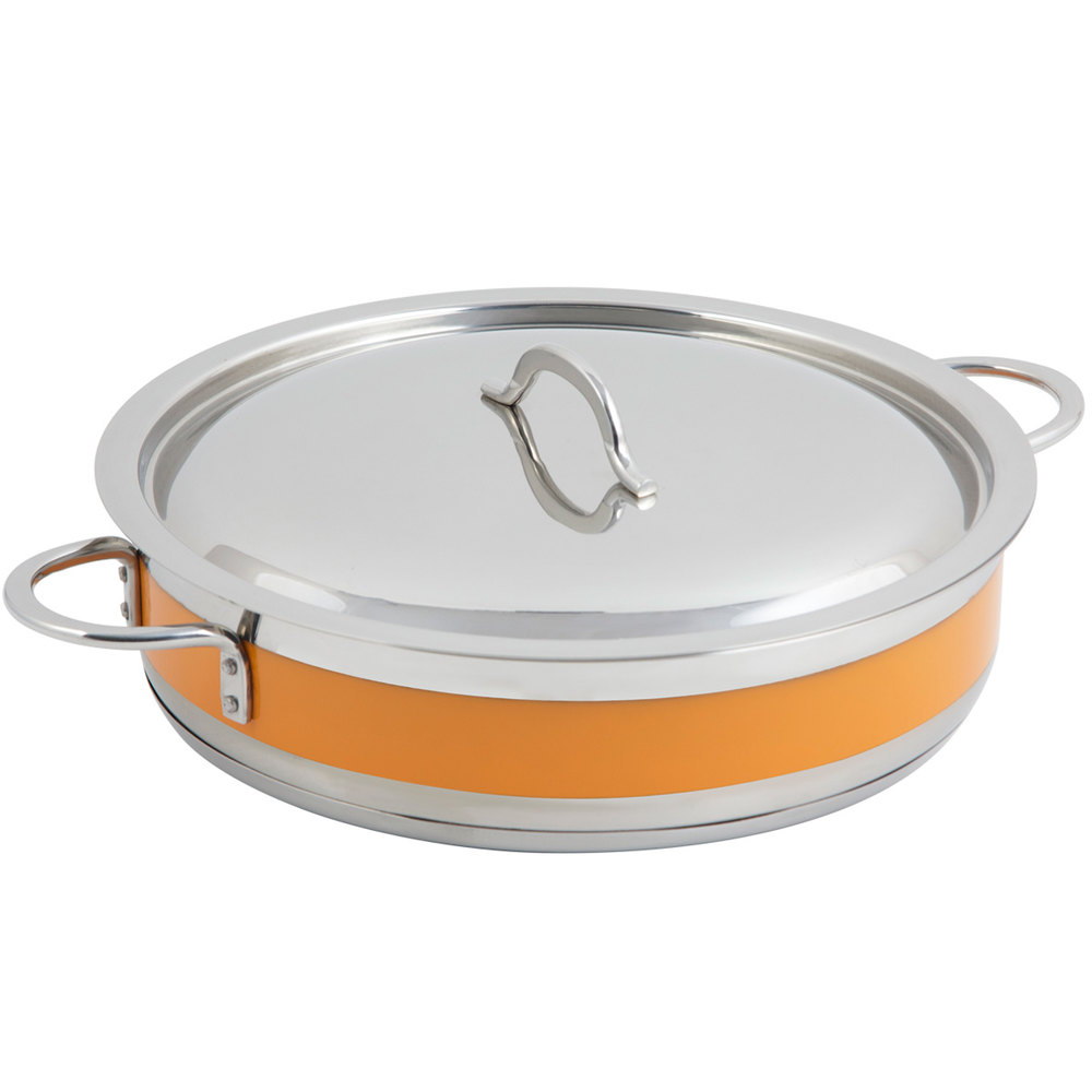 Cucina Kitchen Products Bon Chef 60032cld Cucina 9 Qt Orange Brazier Pot With Cover