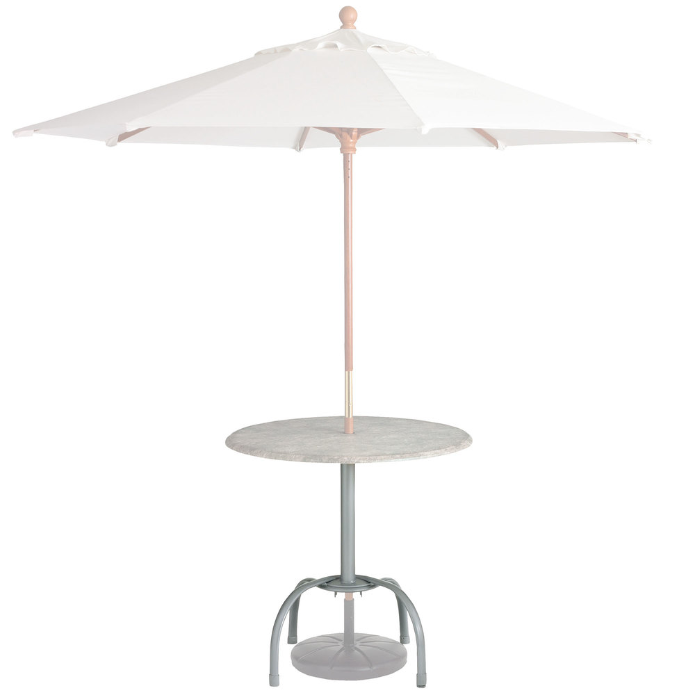 Tulip Table Grosfillex Us528109 99528109 Silver Gray Bar Height Tulip Table Base With Umbrella Hole