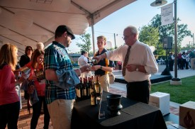 The university provided a beer and wine tasting as part of the Garden Glow event. Photo by Lily Voss
