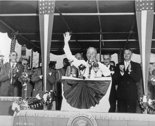 President Harry Truman speaks at the formal dedication of the Jefferson National Expansion Memorial in 1950. CONTRIBUTED PHOTO