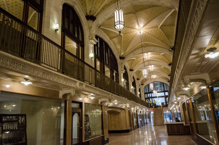 Another view inside the new Arcade Building that was recently renovated. Webster will use the first three floors of the structure. Jordan Palmer| The Journal
