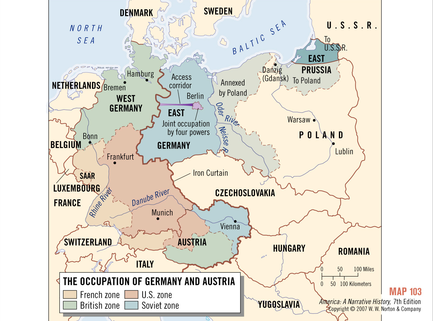 Iron Curtain Map The Iron Curtain Cold War In Europe Gopelling
