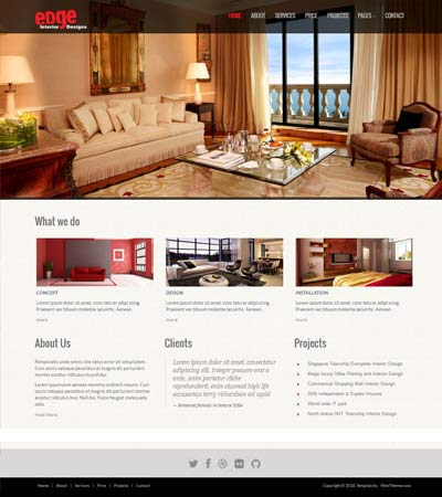 Interior Design Website Template Free Download WebThemez