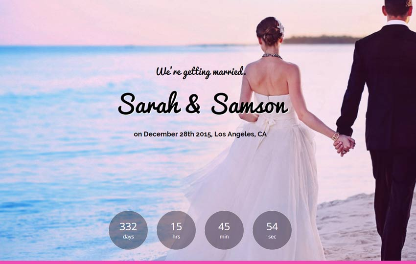 Wedding Website Template Free Download - WebThemez - wedding template