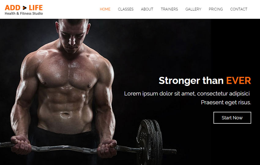 Health Fitness Free Bootstrap Template - WebThemez - Fitness Templates Free