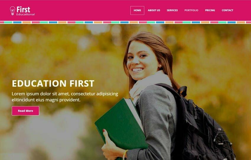 Latest Educational Free Web Template - WebThemez