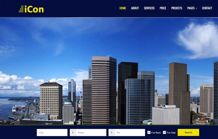Top Real-estate Free HTML Template By WebThemez