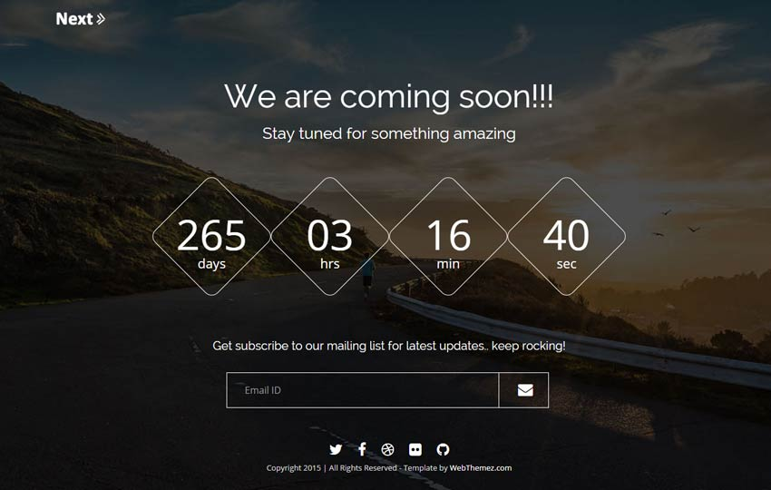 Best Free Coming soon Bootstrap Template - Webthemez