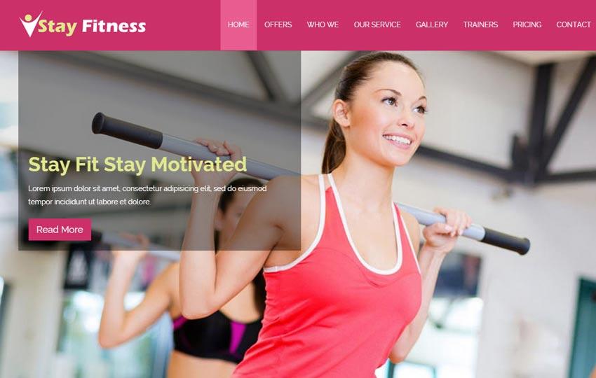 36+ Best Free Gym Fitness Website Templates 2019 - WebThemez