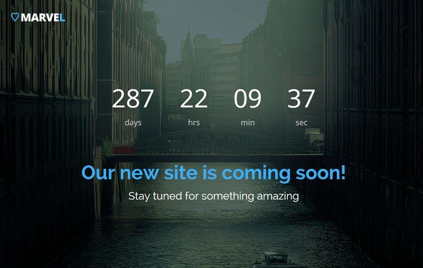 Free Bootstrap Coming Soon Template - WebThemez