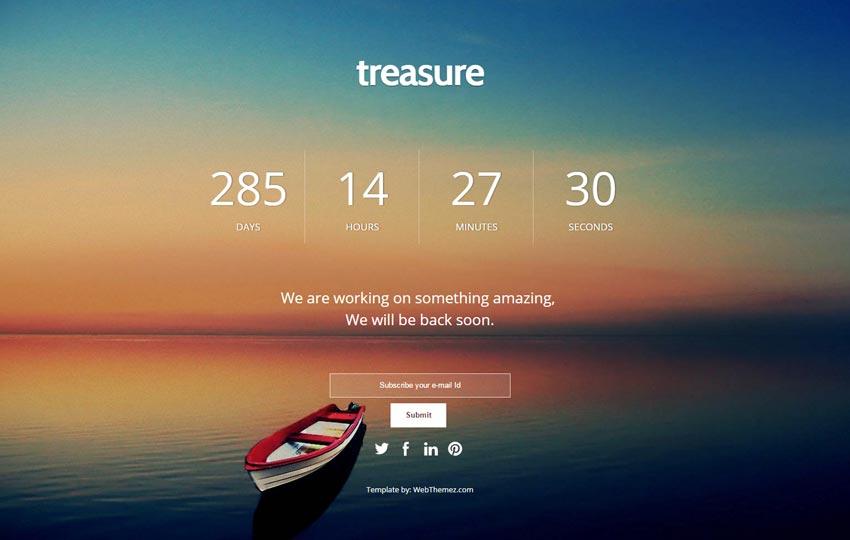 Coming Soon Responsive Web Template - WebThemez